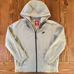 NIKE Tech Fleece Windrunner Gray Hoodie Sweatshirt